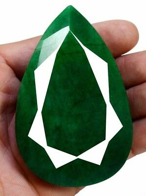 959ct Big Natural Pear Shape Green Emerald Faceted Loose Gemstone On Ebay