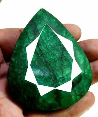 692ct Big Natural Pear Shape Green Emerald Faceted  Loose Gemstone on ebay