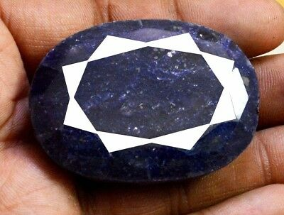 442ct Natural Rare Faceted Oval Shape Blue Sapphire Loose Gemstone on ebay