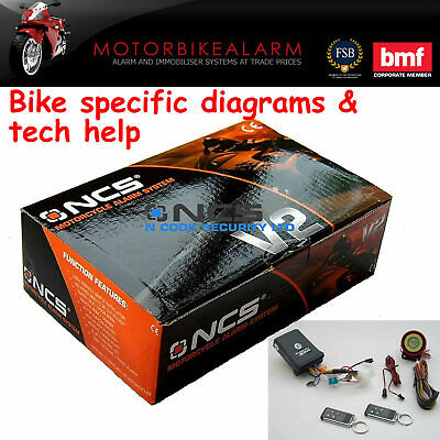 Talking Ncs V2 Motorbike Bike Motorcycle Alarm & Immobiliser With Remote Start