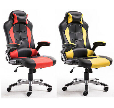 Recliner Computer Office Chair Gaming Sports Racing Home Armrest Adjustable Seat