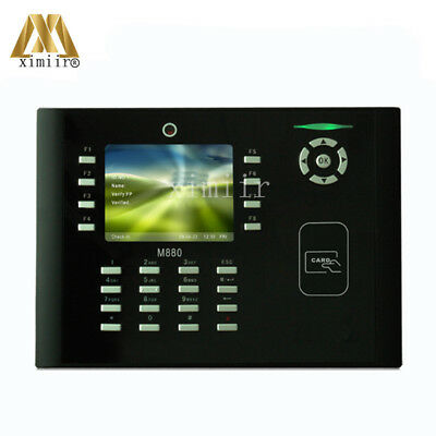 ZKteco M880 Biometric Time Attendance With Camera 50000 Card Capacity TCP/IP