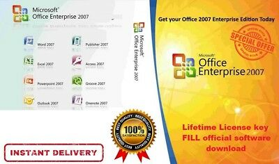 Microsoft Office 2007 Enterprise Digital Download ⚡ Lifetime License ⚡