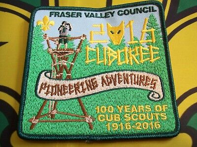 Canadian Scout Badge Fraser Valley Council 2016 Cuboree 100 years of Cub Scouts