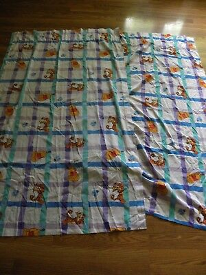 Childrens Nursery Disney Winnie The Pooh Tigger Curtains Drapes Set White 80x63