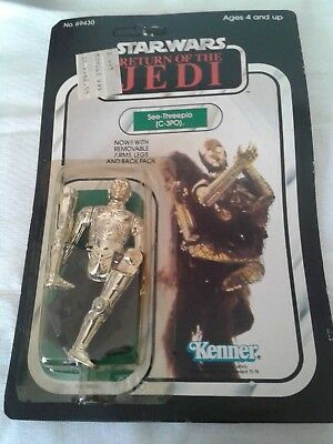 Star Wars Return of the Jedi C-3PO Removable Limbs SUPER RARE PACKAGING