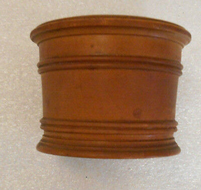 Small Vintage Old Antique Round Wooden Snuff Tobacco Trinket Storage Button Box