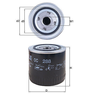 Mahle Oil Filter   Spin On OE Replacement OC248
