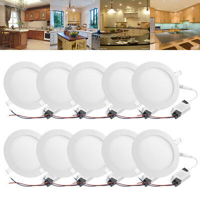 Ultra Slim Led Light Recessed Ceiling Panel Down Lighting Downlight Round+Driver