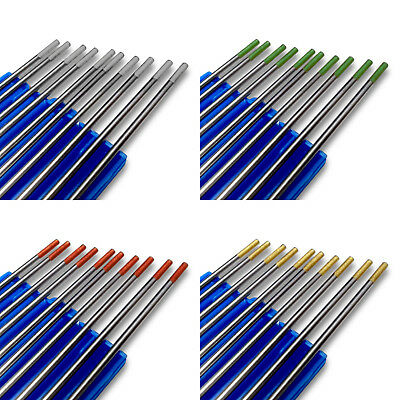 TIG Tungsten Electrode Welding GOLD, RED GREEN, GREY, 1.6 / 2.0 / 2.4 / 3.2 / 4