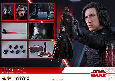 "New Hot Toys 12"" Star Wars The Last Jedi Kylo Ren 1/6 Scale Fig Tlj Adam Driver"