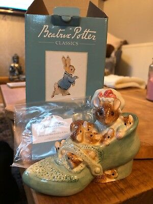Beatrix Potter Old Woman Who Lived In A Shoe Figurine