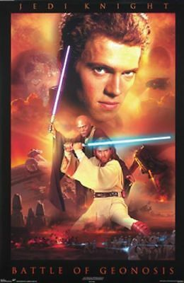 Star Wars Sealed Poster Jedi Knight Battle of Genosis #2580 2002 Trends USA