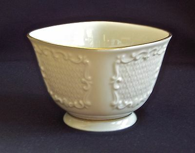 """4"""" Footed Lenox Canterbury Bowl 24K Gold Trim Discontinued Pattern"""