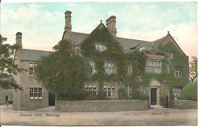 Early Lovely Rare Vintage Postcard,the Peacock Hotel,rowsley,derbyshire