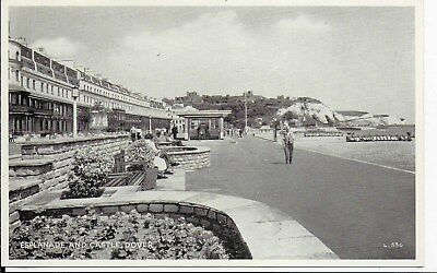 Rare Lovely Vintage Postcard,esplanade And Castle,dover,kent,rp