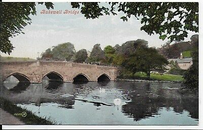Lovely Early,rare Vintage Postcard,bakewell Bridge,derbyshire.