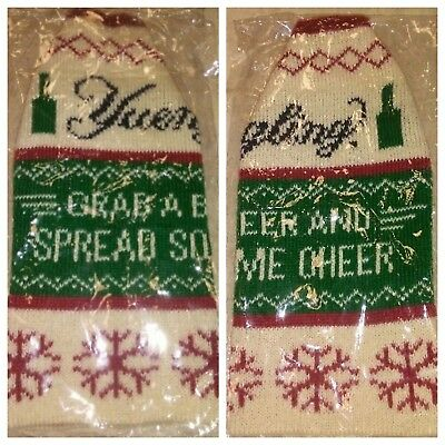 Yuengling Lager Ugly Christmas Sweater Koozie - Set of Two (2) - New & Free Ship