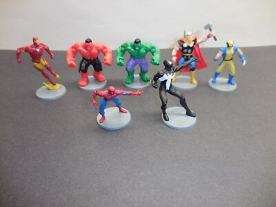 Marvel Figures  - Iron Man Thor Red & Green Hulk Spider-Man Wolverine
