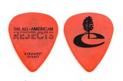 All American Rejects Mike Kennerty Tree Orange Guitar Pick #3 - 2009 Tour