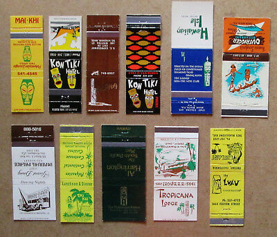 11 diff TIKI RELATED MATCHCOVERS