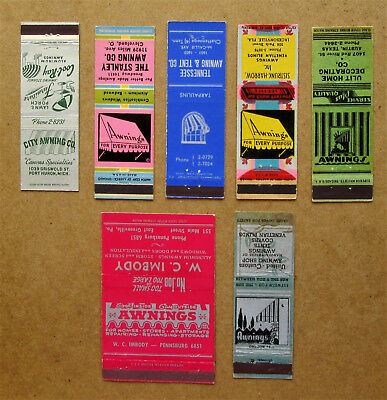 7 Diff Awnings (That's Right) Matchcovers
