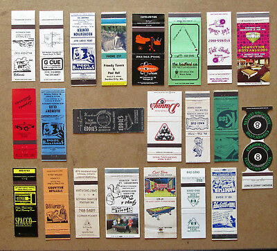 22 Diff Pool & Billiards Themed Matchcovers