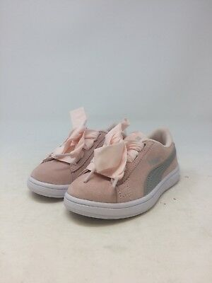 ... Jr 366003 02 Juniors Women Shoes Pearl Pink Suede Sneakers.  48.85 Buy  It Now 19d 21h. See Details. Puma Girls Smash V2 Ribbon AC PS Pink Size 11.5 8a90f1dc0