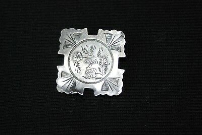 FINE LARGE ANTIQUE VICTORIAN SOLID SILVER MOURNING  HAIR LOCKET PENDANT 1800's