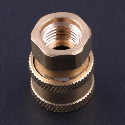 "Pressure Washer 1/4"" Female NPT Brass Connect Socket Adapter Coupler"