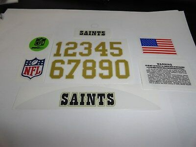 New Orleans Saints Football Helmet Decals