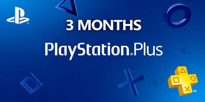 3 Months days PlayStation PS Plus PS4-PS3 - ( NO CODE )