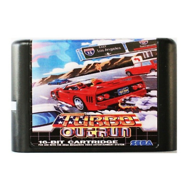Turbo Outrun 16 bit MD Game Card For Sega Mega Drive For SEGA Genesis