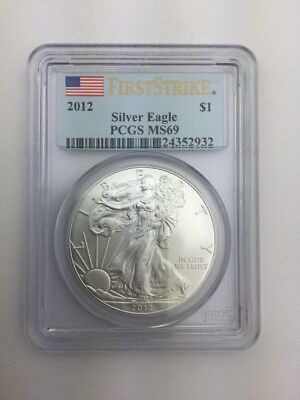 2012 American Silver Eagle PCGS MS69 First Strike
