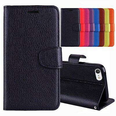 HOUSSE COQUE POCHETTE CUIR LEATHER WALLET CASE pour iPHONE 5 / 5S / SE / + Film
