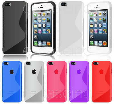 COQUE HOUSSE SILICONE S LINE GEL SILICONE pour APPLE IPHONE 5C + FILM OFFERT
