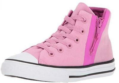 11ad8bb2f831cc CONVERSE All Star Hi Sport Pink Kids Athletic Sneakers Zip Lace Up 659993F  NEW