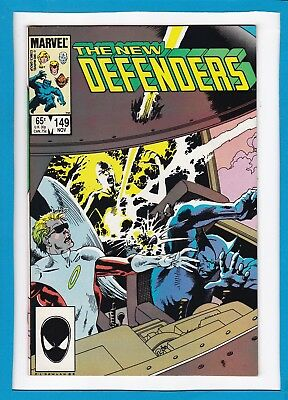 The New Defenders #149_November 1985_Near Mint Minus_Beast_Iceman_Angel_Cloud!