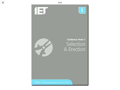 IET Guidance Note 1: Selection & Erection 18th Edition
