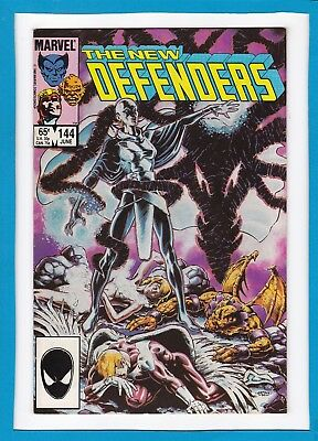 The New Defenders #144_June 1985_Near Mint Minus_Valkyrie_Beast_Iceman_Angel!