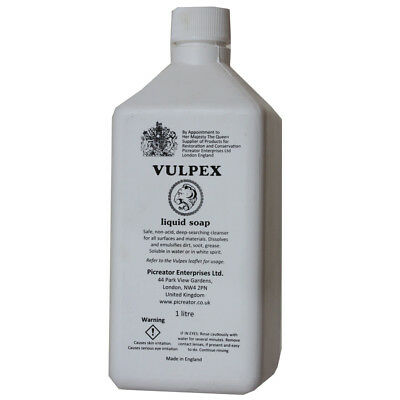 1L Cleanser Vulpex Liquid Soap For Cleaning Your Antiques , Read Descriptions
