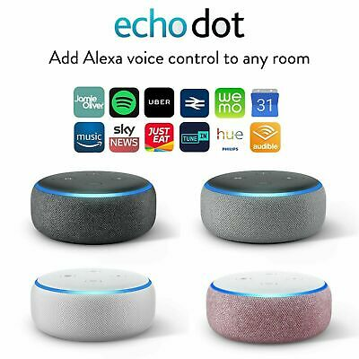 Amazon Echo Dot 3rd Generation Smart Speaker with Alexa - Black/Grey/White/Plum