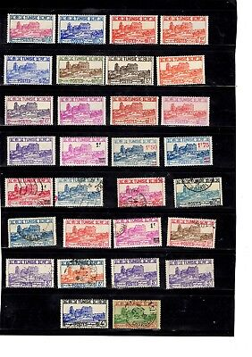 Tunisia - collection of MM/used - some better values to 25F