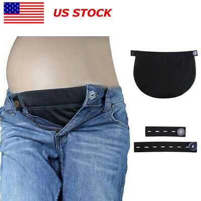 US Maternity Belly Band Pregnancy Belt Waistband Extender Mothers Maternity Wear