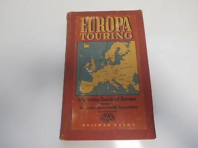 1954 Europa Touring Book-Motoring Guide Of Europe Maps And General Information