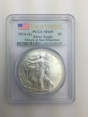 2014-(S) American Silver Eagle PCGS MS69 First Strike - Struck at San Fracisco