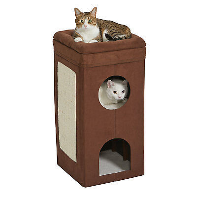 """Midwest Curious Suede Cat Condo, 3.39"""" H"""