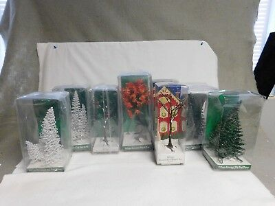 Deptment 56 ~ Lot Of 8 Village Trees ~ Accessories