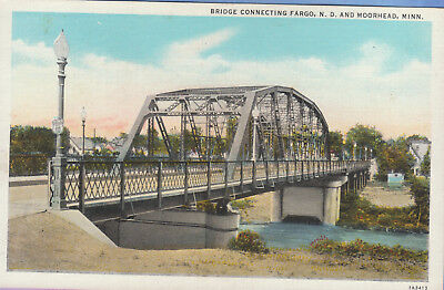 Bridge Connecting Fargo, ND-Moorehead, MN...Linen...Free Shipping!!!