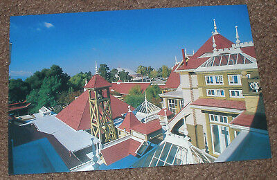 San Jose,Ca. - Winchester Mystery House Retired Unposted Postcard - Rooflne View